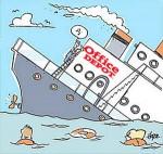 Depot sinking ship