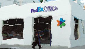 distorted-Fedex-building