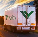 Veritiv truck sunset